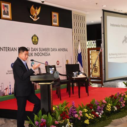 Sambutan Menteri ESDM, Ignasius Jonan dalam acara Indonesia - Finland Business Forum 2018