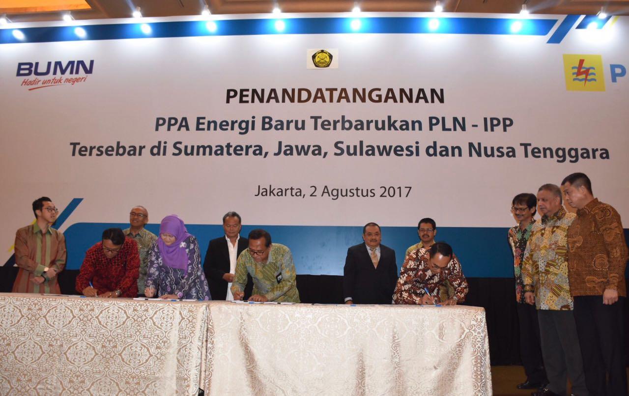 Penandatanganan PPA EBT PLN - IPP Tersebar di Sumatera, Jawa, Sulawesi dan Nusa Tenggara