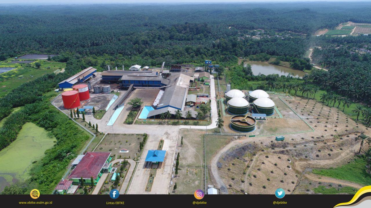 PLTBg di Kecamatan Tungkal Ulu, Jambi yang dibangun oleh anak usaha Asian Agri tahun 2016 dengan kapasitas konrak 1,1 MW