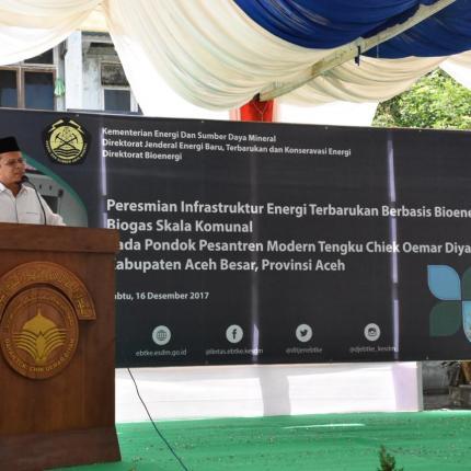 Program pembagunan ini merupakan sebuah capaian yang sejalan dengan program nasional dalam upaya pencapaian target pemanfaatan Energi Baru Terbarukan sebagaimana diamanatkan dalam Peraturan Pemerinta