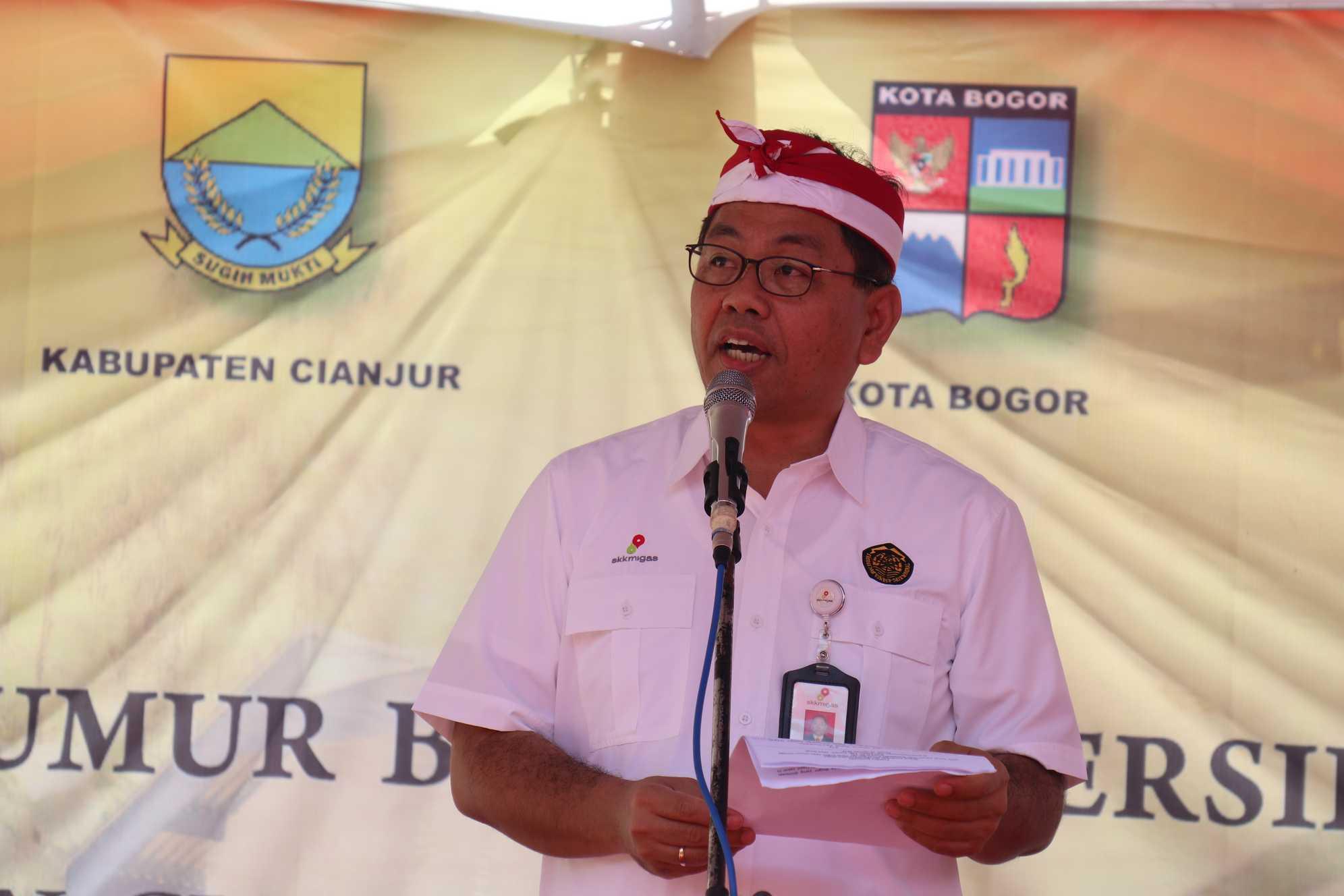 Sambutan Deputi Keuangan dan Monetisasi SKK Migas, Parulian Sihotang pada Peresmian Lampu PJU-TS di Cianjur