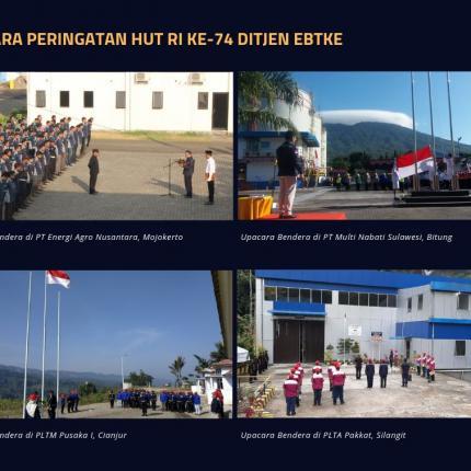 Upacara Bendera Direktorat Jenderal EBTKE di Badan Usaha Subsektor EBTKE