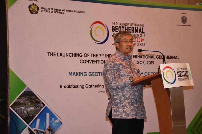 Sambutan Direktur Jenderal Energi Baru, Terbarukan dan Konservasi Energi, F.X Sutijastoto dalam Launching IIGCE ke-7