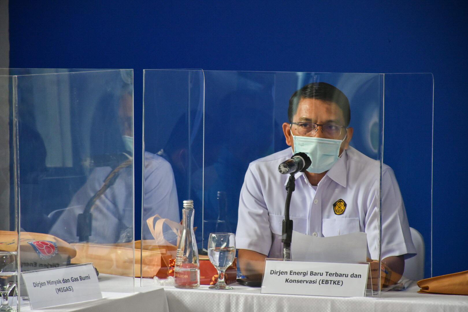 Sambutan Dirjen EBTKE, Dadan Kusdiana pada acara Kunjungan Spesifik Komisi VII DPR RI ke PT Indocement Tunggal Prakarsa Tbk di Citereup, Bogor (01/04/2021) (NS)