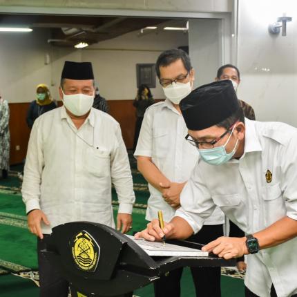 Dirjen EBTKE, Dadan Kusdiana meresmikan Masjid At Taawwab di Lingkungan Ditjen EBTKE, Jakarta (05/05/2021) (NS)