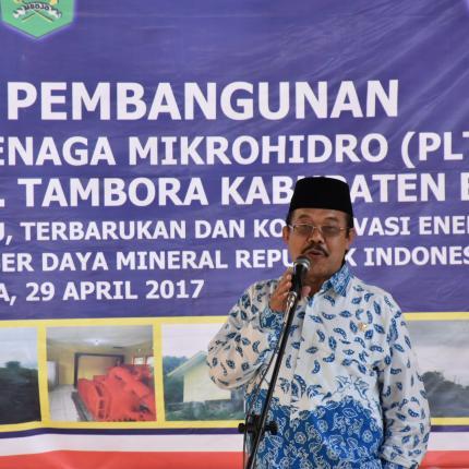 Sambutan Bpk Kurtubi Anggota komisi VII Dapil NTB
