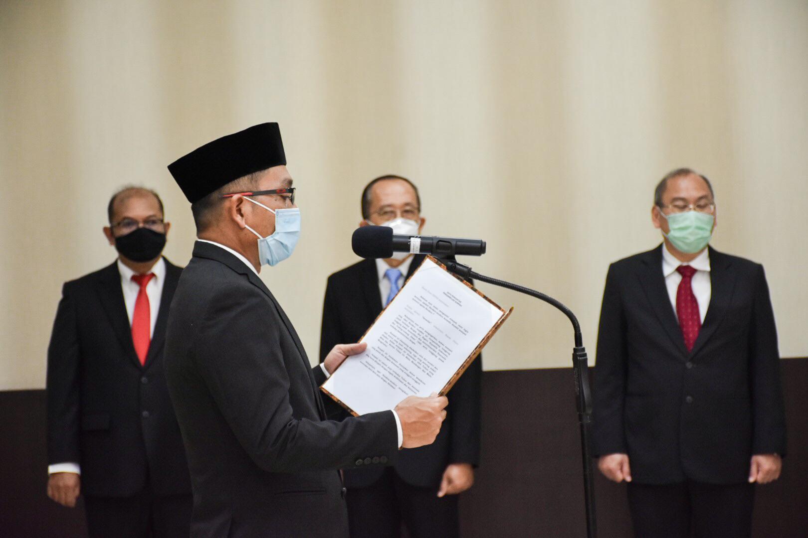 Dirjen EBTKE, Dadan Kusdiana melantik dan mengambil sumpah jabatan sebanyak 14 pejabat fungsional dalam berbagai jabatan fungsional di Gedung Slamet Bratanata, Jakarta (05/04/2021) (NS)