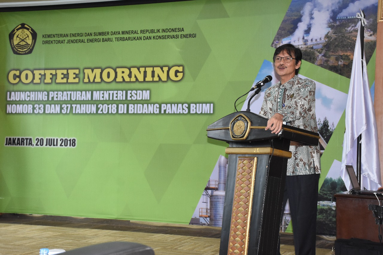 Sambutan Dirjen EBTKE pada Launching Permen ESDM nomor 33 dan 37 tahun 2018 di Bidang Panas Bumi
