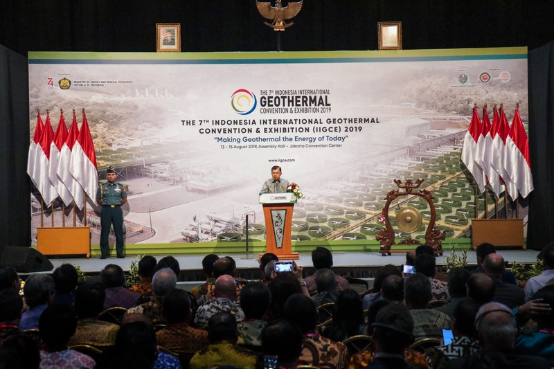 Pembukaan The 7th Indonesia International Geothermal Convention and Exhibition 2019 oleh Wakil Presiden RI, Jusuf Kalla