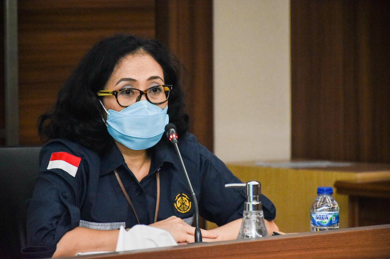 Direktur Konservasi Energi, L.N. Puspa Dewi memberikan sambutan pada acara Penyerahan Penghargaan Asean Energy Awards 2020 di kantor Ditjen Cipta Karya, Jakarta (18/02/2021)(NS)