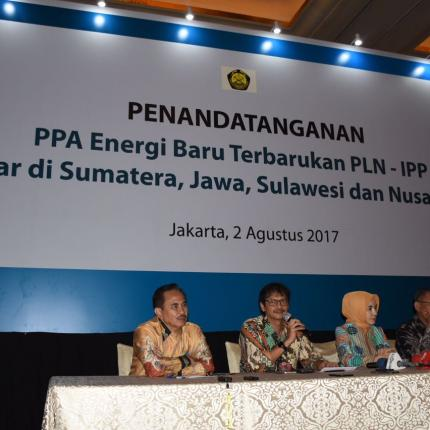 Narasumber Acara Penandatanganan PPA EBT PLN - IPP