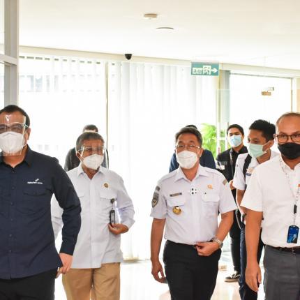 Penandatanganan nota kesepahaman bersama Direktorat Jenderal Perhubungan Udara Kementerian Perhubungan dan PT. Angkasa Pura I serta PT. Angkasa Pura II di Gedung Slamet Bratanata, Jakarta. (22/10/2020