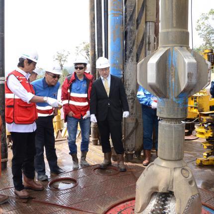 Kunjungan Direktur Jenderal EBTKE, Rida Mulyana pada Sumur Eksploitasi Pertama WKP Rantau Dedap