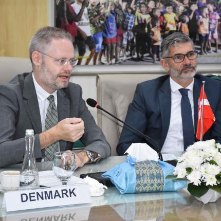 Sambutan Duta Besar Denmark, Rasmus A Kristensen dalam Steering Committee ke-8 di Dirketorat Jenderal EBTKE