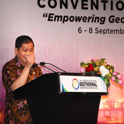 Sambutan Menteri ESDM, Ignasius Jonan pada Pembukaan Indonesia International Geothermal Convention & Exhibition (IIGCE) 2018 di Jakarta Convention Center.