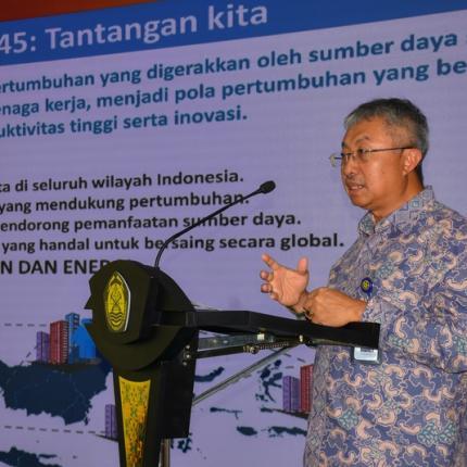 Sambutan Direktur Jenderal Energi Baru, Terbarukan dan Konservasi Energi, F.X Sutijastoto dalam Kunjungan Kuliah Kerja Pasis Sekkau A-105