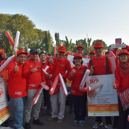 Tim Parade ASEAN dari KESDM tiba di depan Kantor ESDM