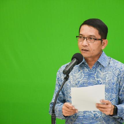 Dirjen EBTKE, Dadan Kusdiana memberikan sambutan pada acara Launching Program Patriot Energi yang dilaksanakan secara virtual di Gedung Slamet Bratanata, Jakarta (18/06/2021) (NS)