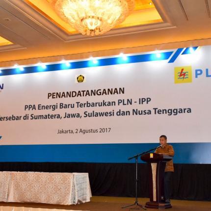 Sambutan Menteri ESDM pada Acara Penandatanganan PPA EBT PLN - IPP