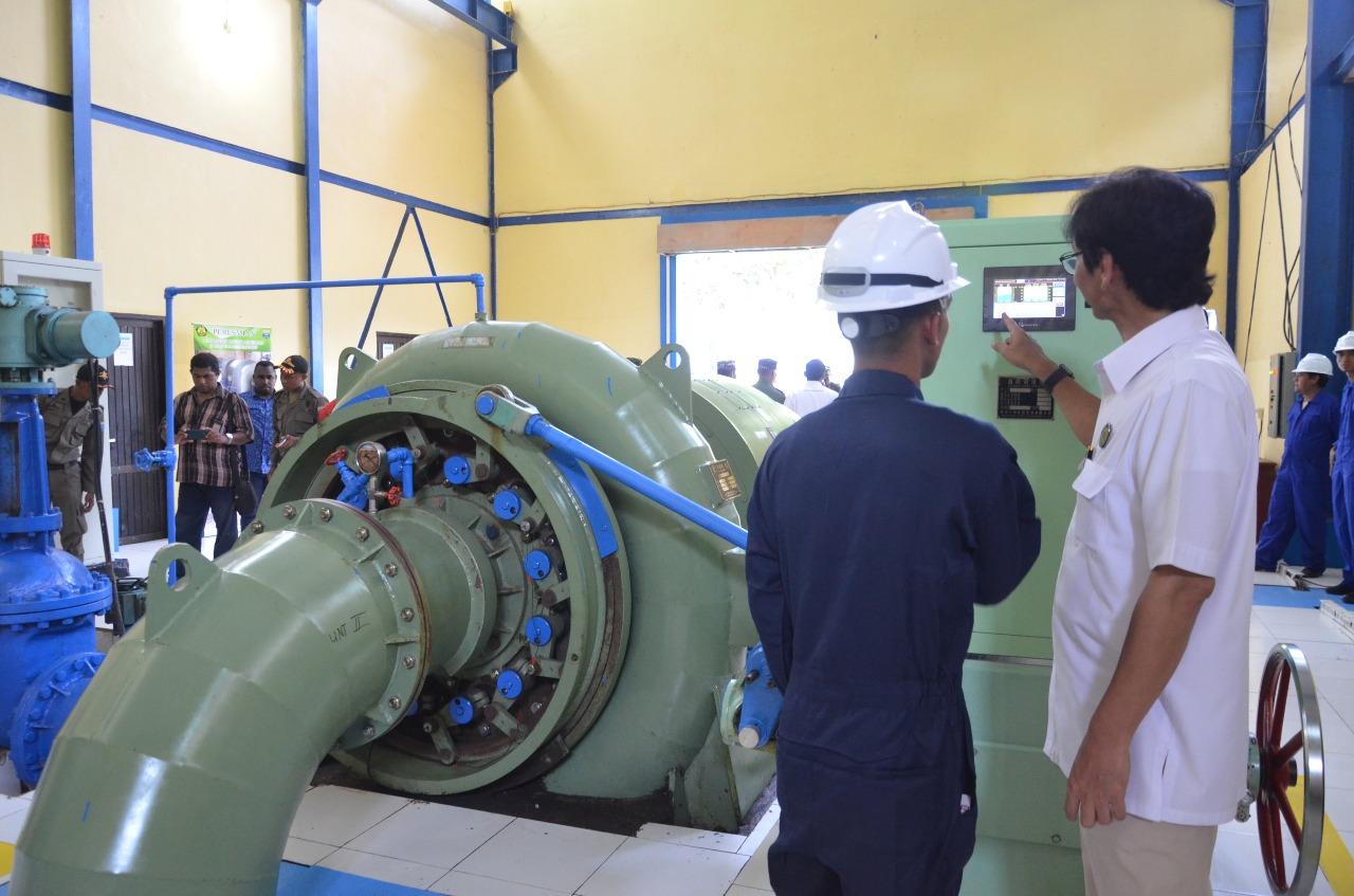 Peninjauan dan Pengecekan PLTM Warabiai Sausapor di Desa Jokte Kecamatan Sausapor Kabupaten Tambraw dengan kapasitas 1,6 MW (2 x 800 kW)