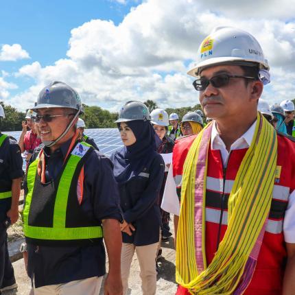 Pengoperasian PLTS Kupang dikendalikan oleh PT. PLN (persero) Unit Pelaksana Pembangkitan (UPK) Timor.(14/02/2020)