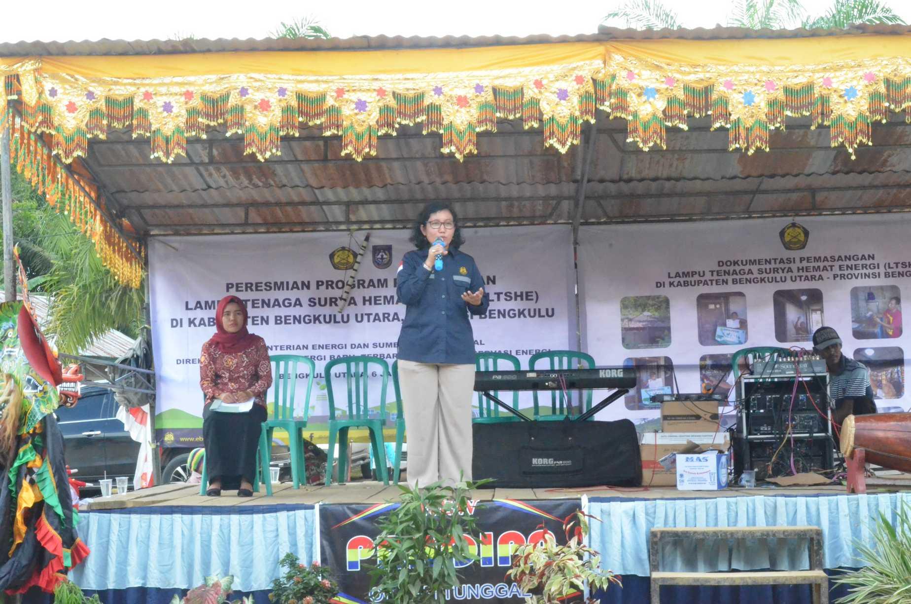Sambutan Direktur Panas Bumi, Ida Nuryatin pada Peresmian LTSHE di Benkulu Utara