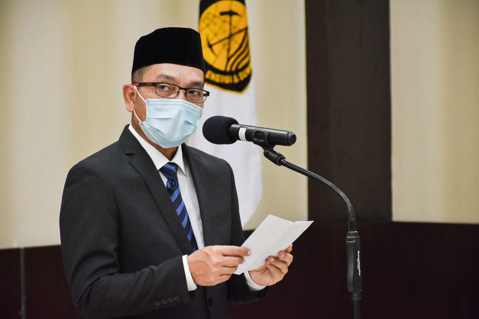Dirjen EBTKE, Dadan Kusdiana memberikan sambutan pada acara pelantikan di Gedung Slamet Bratanata, Jakarta (05/04/2021) (NS)