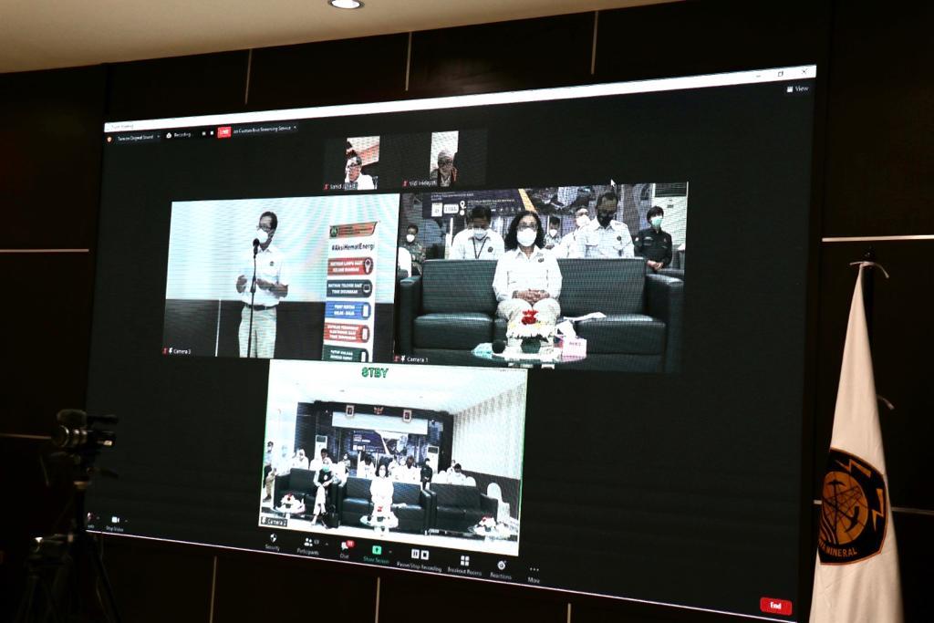 Kegiatan Launching Lomba Hemat Energi Gedung Perkantoran di Kementerian ESDM dilakukan secara online dan offline, Jakarta (25/02/2021) (LA)