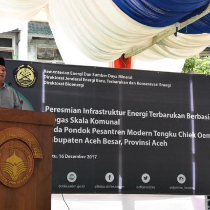 2 unit lampu biogas dan 4 unit kompor biogas dan telah dilakukan proses serah terima aset kepada Pemerintah Kabupaten Aceh Besar sebagai pengusul kegiatan pada bulan Desember 2016