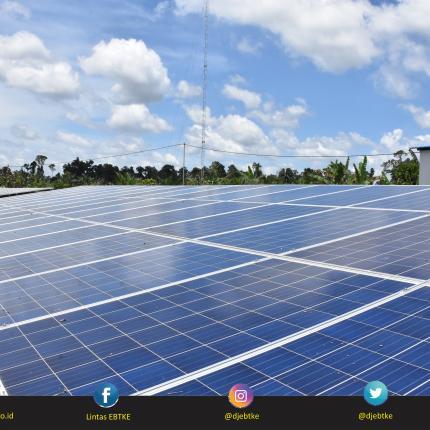 PLTS Nunukan berkapasitas 75 kWp dapat menerangi 140 rumah dan 4 Fasilitas Umum