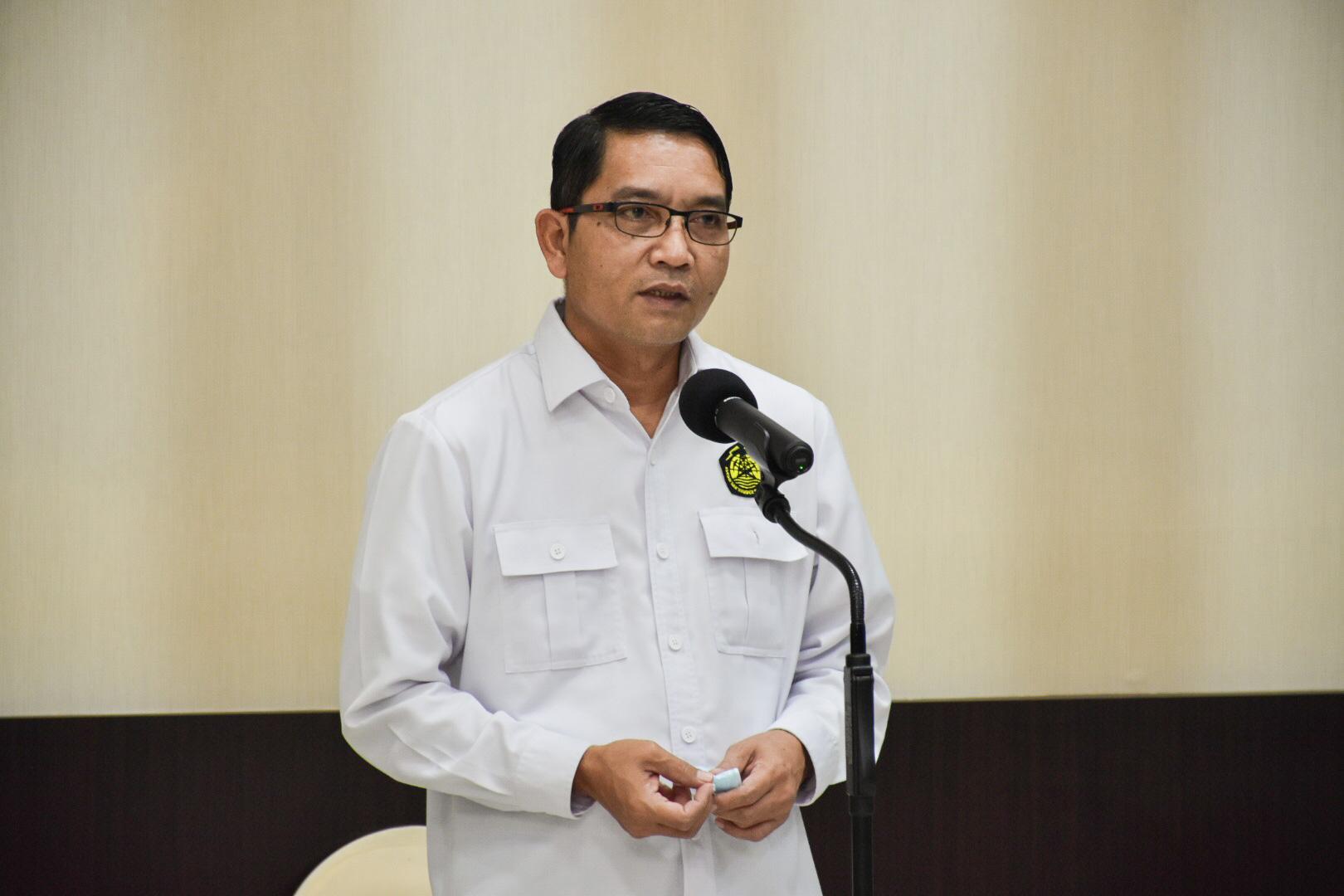 Dirjen EBTKE, Dadan Kusdiana memberikan sambutan pada kegiatan Halalbihalal Virtual di Gedung Slamet Bratanata, Jakarta (17/05/2021) (NS)
