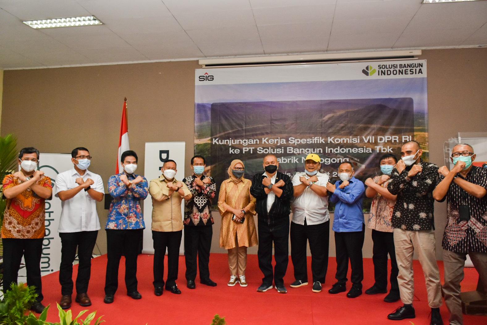 Kunjungan Spesifik Komisi VII DPR RI ke PT. Solusi Bangun Indonesia Tbk bertujuan untuk mendapatkan informasi tentang perkembangan pembangunan di daerah, Bogor (25/03/2021) (NS)