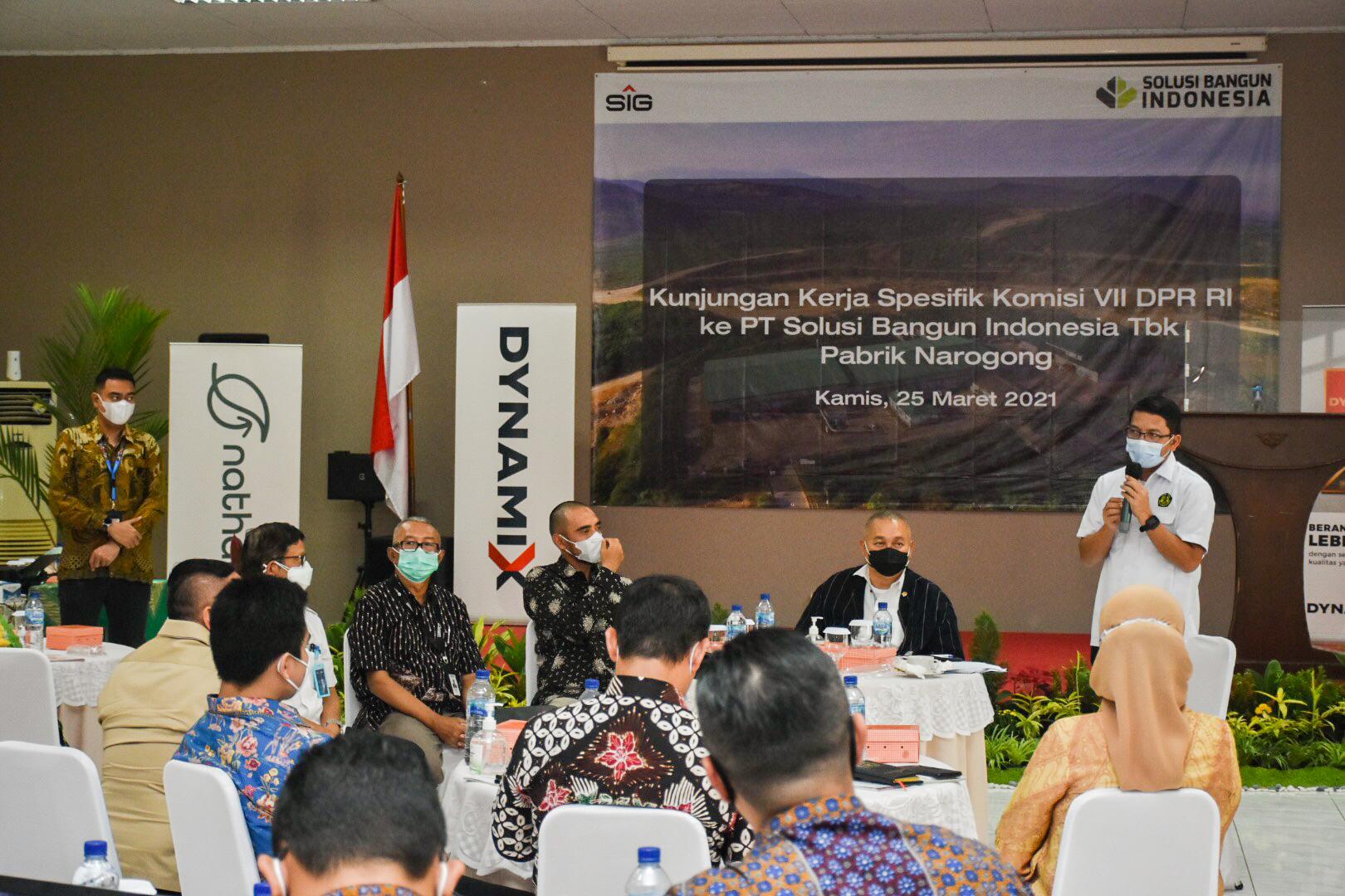 Sambutan Dirjen EBTKE, Dadan Kusdiana pada acara Kunjungan Spesifik Komisi VII DPR RI ke PT. Solusi Bangun Indonesia Tbk, Bogor (25/03/2021) (NS)