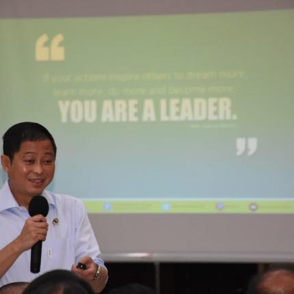 Menteri ESDM memberikan gambaran sosok Pemimpin yang baik dijadikan panutan.